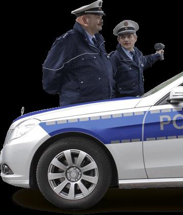 Polizei mit Auto